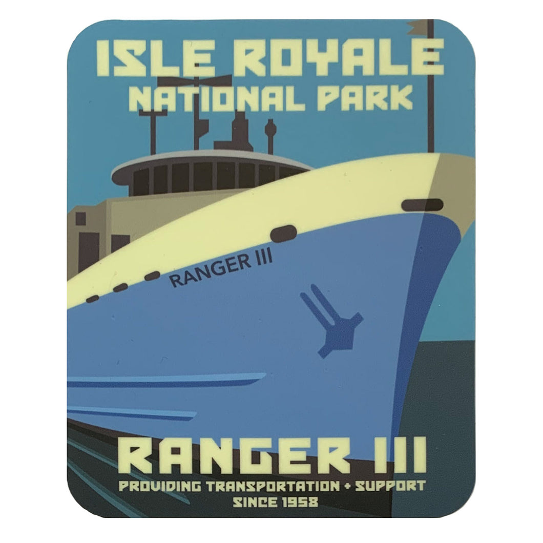 Isle royale ranger III sticker