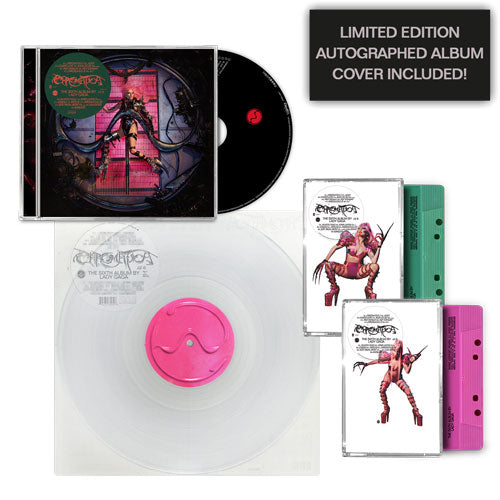 Lady Gaga | CHROMATICA Standard CD + Standard Vinyl + 2 Cassettes (Mint Green + Pink) + Autographed Album Cover