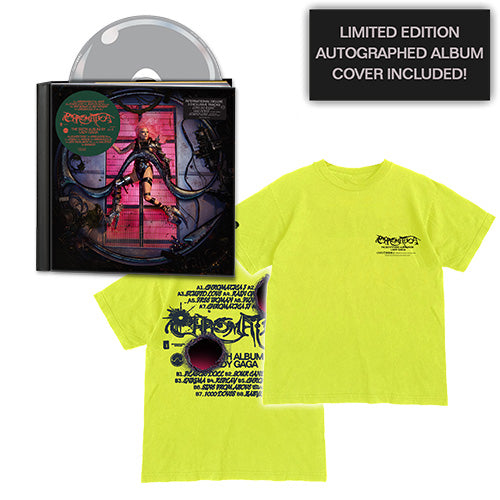 Lady Gaga | CHROMATICA Deluxe CD + Logo T-Shirt + Autographed Album Cover