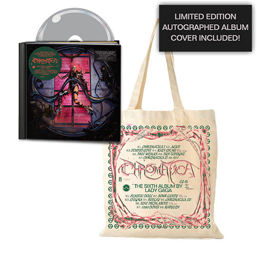 Lady Gaga | CHROMATICA Deluxe CD + Totebag + Autographed Album Cover