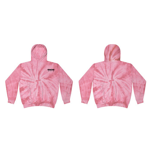 5 Seconds Of Summer | Calm Hooded Sweater Custom Dyed Pink