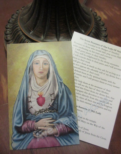 Our Lady of Sorrows Holy Cards (25 cards)