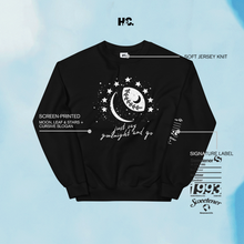 Load image into Gallery viewer, Moon & Stars Crewneck (Black)
