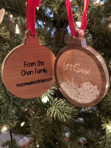 Personalized Snow Globe Xmas Ornament