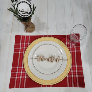 Thanksgiving Place Setting Words - DIGITAL FILE