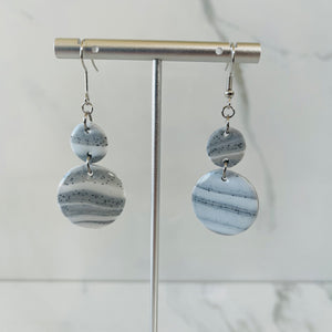 Marble Collection - Circles Marbled Dangle Earrings
