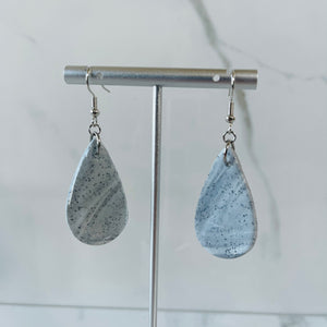Marble Collection - Large Teardrop Marbled Dangle Earrings