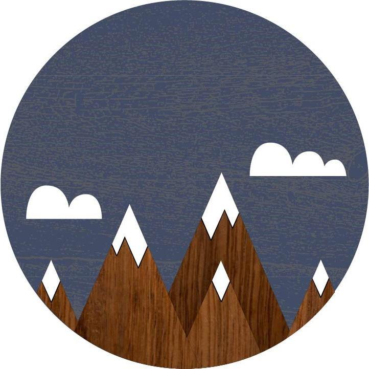 Mountains Children's Room Sign