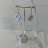 Marble Collection - Diamond Shape Marbled Dangle Earrings