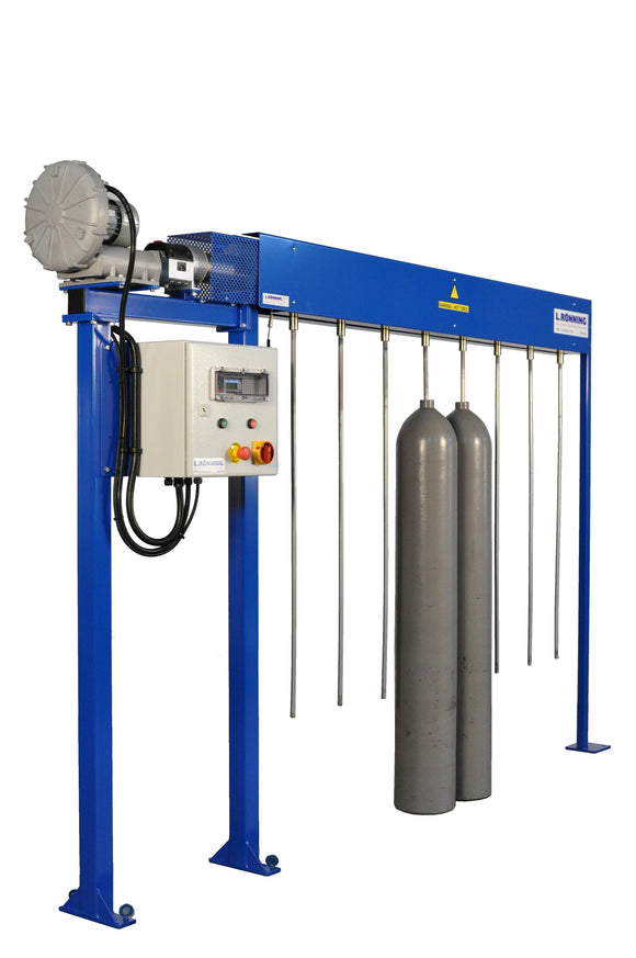 Drying unit gas cylinder maintenance