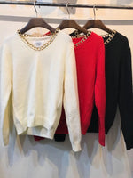 Chained Knit Top (3 colours) (pre order)