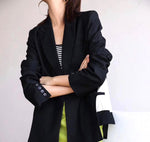 Mixed Fabric Suit Jacket (pre order)