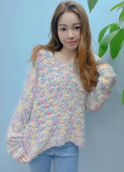 Mixed Colours Knit Top (pre order)