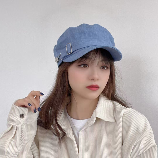 Denim Beret Cap (3 colours) (pre order)