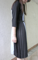 Side Pleated Striped OP (pre order)