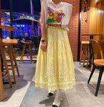 Pom Pom Trimmed Hem Skirt (3 colours) (pre order)