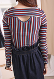 Pinstriped Weaving Top