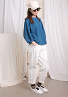 Striped Lantern Sleeves Top (3 colours)