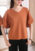 3D Puff Sleeves Top (3 colours)