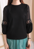 Bohemian Sleeves Weaving Top (2 colours)