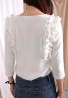 Ruffle Trimming Top (2 colours)