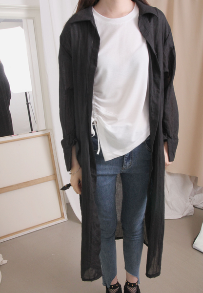 Side High Split Long Jacket (2 colours)