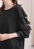 Puff Sleeves Chiffon Top (2 colours)