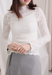 Mock Turtleneck Lace Top