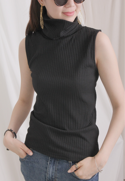 Turtleneck Weaving Vest (4 colours)