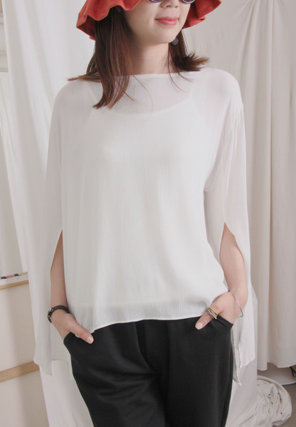Split Sleeves Chiffon Top (3 colours)