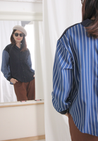 Front & Back Reversible Pinstriped Shirt