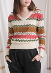 Wavy Striped Knit Top (2 colours) [beige colour coming soon...]
