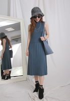 Knit Vest Dress with Knit Top Set