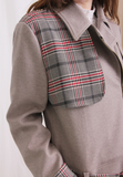 Mix Checkers Short Flannel Jacket