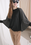 Pinstriped Dolman Sleeves Top