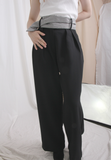 Houndstooth Waistband Loose Pants