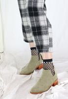 Suede Low Ankle Boots (2 colours)