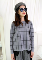 Mixed Fabric Checkers Top (2 colours)
