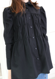 Ruched Body Long Shirt