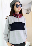 Checkers Collar Sweater