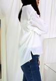 Ruffle Shoulder Shirt (2 colours)