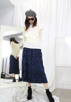 Dot Dot Crinkled Skirt (2 colours)