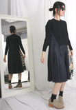 2-in-1 Pleated Dress