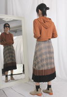 Checkers Pleated Skirt