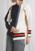 Mixed Colours Side Zip Cardigan