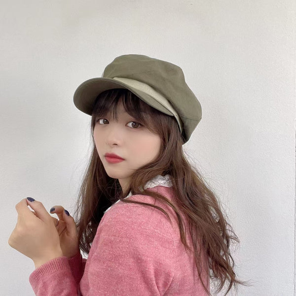 Side Button Beret Cap (3 colours) (pre order)