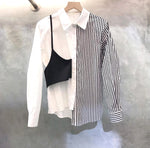 Faux Two Asymmetric Design Shirt (pre order)