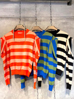 Striped Knit Top (3 colours) (pre order)