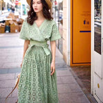 Pom Pom Embroidered Dress Set (2 colours) (pre order)