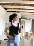 Ruffle Trimmed Vest with Tee Set (pre order)